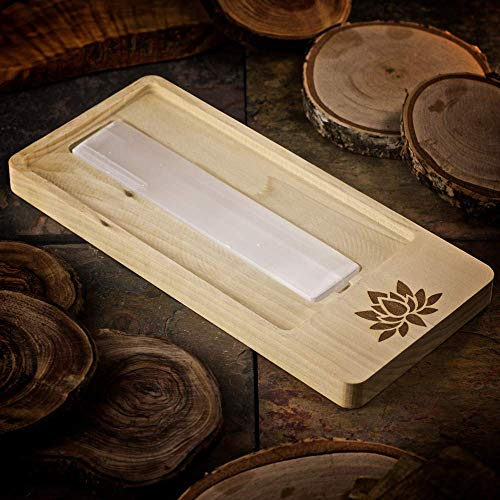 Lotus Blossom Crystal - Handmade Lotus Blossom Crystal Charging Tray with Selenite Bar