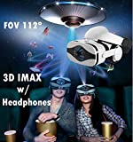 3D VR Glasses Headset, 2018 New Virtual Reality Goggles w/HiFi Headphone & Fan, 3D Movie/Game Viewer Compatible for Apple iPhone Xs Max XR X 8 7 6S 6 Plus Android Samsung Galaxy S9 S8 S7 S6 Edge S5