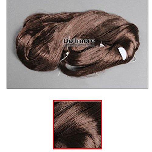 Dollmore Wig SARAN Hair - 0441(Wine reddish brown)