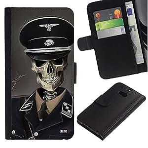 Stuss Case / Funda Carcasa PU de Cuero - SS Soldado - HTC One M8