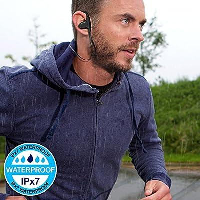 ZEUS Wireless Bluetooth Earbuds - NEW Model 2018 - Adjustable Ear Hooks - Best HD Stereo Sound Sport Headphones – Small Outdoor Waterproof IPx7 Workout Earbuds - Running Headphones for Women Men