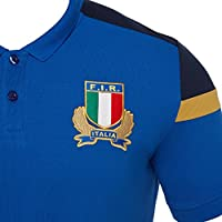 Macron Italy Rugby FIR M17 Official Staff Cotton Polo SS SR ...