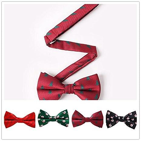 4f5024e4394bf Lumanuby 1X Cravate Noeud Papillon Tie Homme Accessoire Décoration Costume  Vêtements Neutres de Noël Décorations de Noël Cravate en Soie Polyester: ...