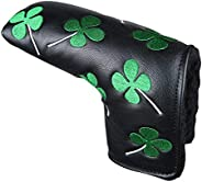 Dark Horse Head Cover Lucky Four Leaf Golf Blade Style Putter Head Cover