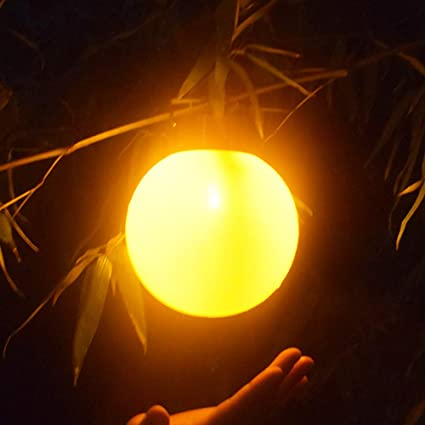 Amazon.com: AVEKI Luces de bola colgantes solares para ...