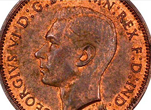 The Great British Coin Hunt UNCIRCULATED Farthing George 6th Uncirculated (1942 King George 6th Farthing)