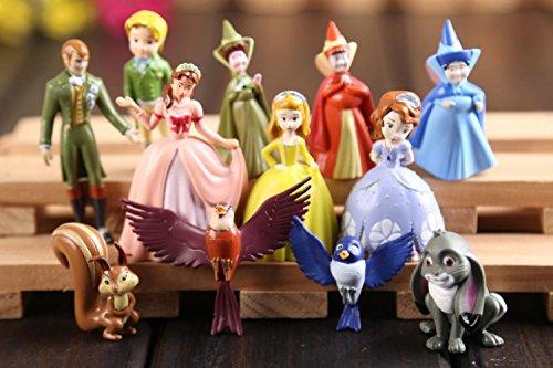 Rosy Women New Sofia The First Pvc Figure Toys Princess Sofia Pvc Doll Brithday Gift For Kids 12Pcs/Set