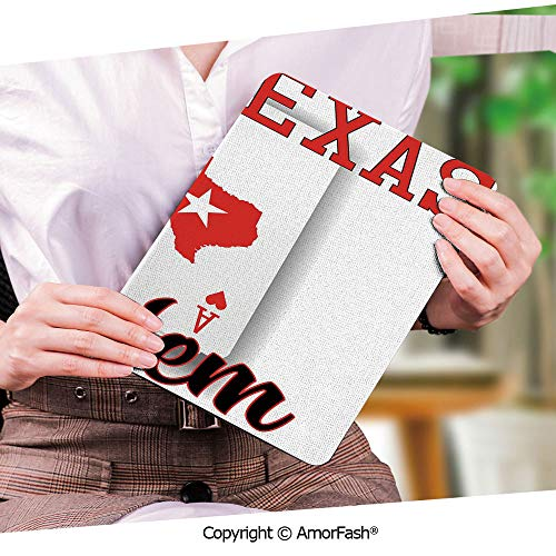 Printed Ultra Lightweight Protective Stand Cover for Samsung Galaxy Tab S2 9.7 Case,Poker Tournament Decorations,Texas Holdem Theme Pair of Aces with Map Winning Hand Decorative,Red Black White