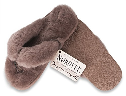 Nordvek Premium Genuine Sheepskin Womens Sandal Slippers # 411-100 Slate XDv1j9Ns1