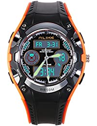 Children's Wrist Watch Dual Time Waterproof Students Boys...