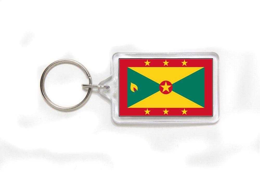 Grenada Grenadian Flag Double Sided Acrylic Key Ring Small