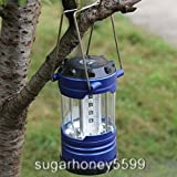 Portable Camping Lantern Bivouac Hiking Camping Tent Light 12 LED Lamp with Useful Compass