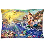Thomas Kinkade Little Mermaid Custom Zippered Pillow Case 20x30 (one side) Special gift