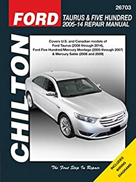 amazon com chilton repair manual 26703 ford taurus five hundred and rh amazon com 2006 ford 500 owners manual 2005 Ford 500