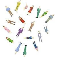 MagiDeal 100pcs Dipinte Treno Modello Figure Di Persone (da 1 A 50)