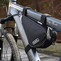 Lixada 1.5L Triangle Cycling Bicycle Front Tube Frame Bag Outdoor Mountain Bike Pouch (Black)