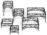 American Metalcraft SLRS7 6-Piece Ironworks Square Leaf Riser Set