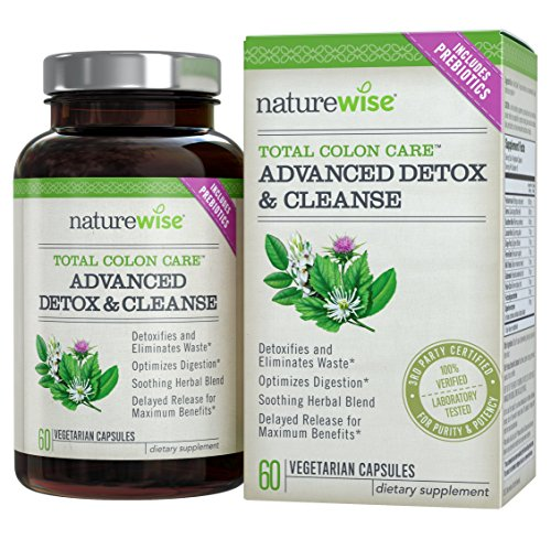 NatureWise Total Colon Care Advanced Detox and Cleanse with Digestive Enzymes for Health and Weight Loss Supplement