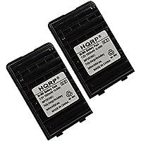 HQRP 2-pack 1500mAh Battery for Yaesu / Vertex Standard VX-180, VX-180U, VX-180V + HQRP Coaster