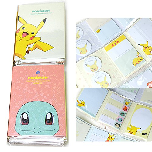 Pokemon Pikachu Post It Sticky Notes Sticker Memo Pad Bookmark Tab Note Set of 2 B by by Nintendo