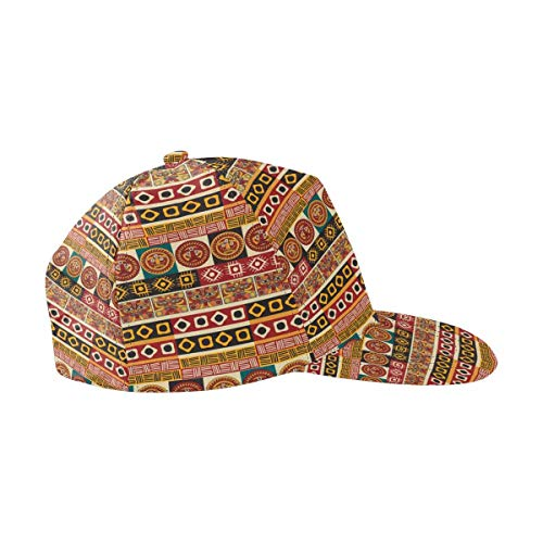 (InterestPrint African Art Tribal Print Hats Adjustable Snapback Baseball Caps)