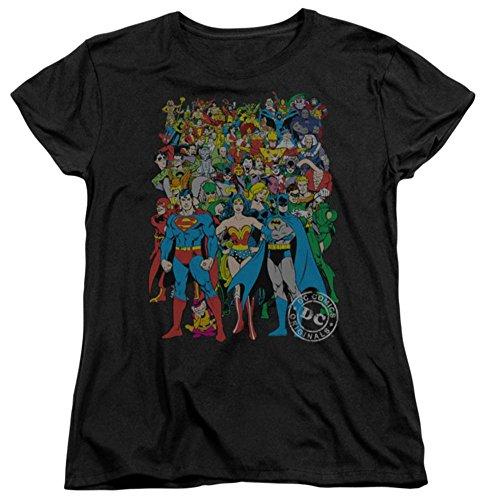 Womens: Justice League - Original Universe Ladies T-Shirt Size M