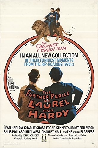 "The Further Perils of Laurel and Hardy 1967 Authentic 27"" x 41"" Original Movie Poster Fine, Very Good Charley Chase Documentary U.S. One Sheet"