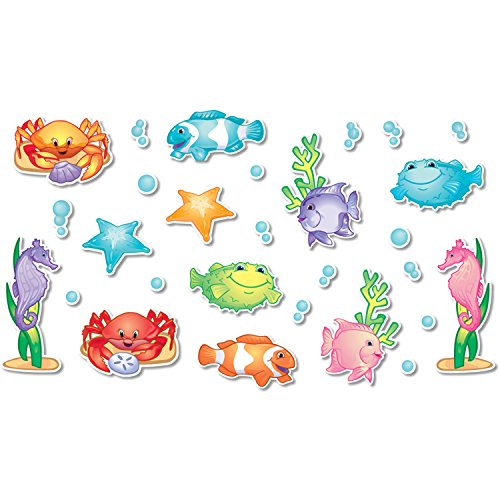 Sea Board Bulletin Set - North Star Teacher Resource NST3200 Under the Sea Bulletin Board Accents, Pack of 136