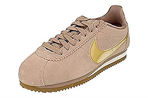 newest 02495 5d64e Nike Women s Classic Cortez Se Gymnastics Shoes, Grey (Diffused  Taupe Metallic Gold
