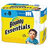 """: Bounty 92981 Basic Select-A-Size Paper Towels, 5 9/10"""" x 11"""", 1-Ply, White (Pack of 6)"""
