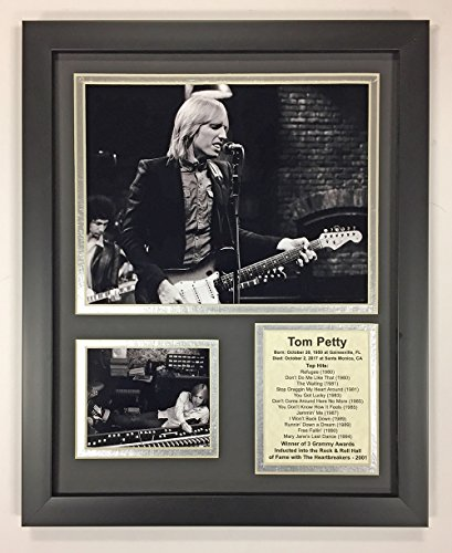 (Tom Petty - Black and White - Framed 12