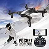 Dirance FQ777 FQ31W RC Quadcopter Drone, WiFi 2.0MP Optical Camera Mini Foldable Helicopter, Headless Mode & Altitude Hold & One ey return (Black)