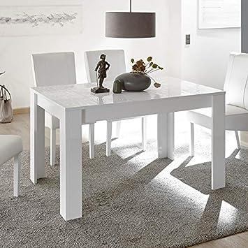 M-012 Tavolo da Pranzo, Bianco Laccato Design 180 cm Elma: Amazon.it ...