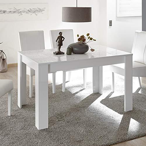 Blanc Design 140 012 Table de laqué rallonge M Repas cm avec sdCrthQ