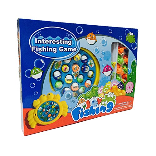 Classic musical electronic fishing rod game fishes octopus for How to play fish table game