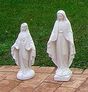 Madonna Sagrada piedra Figura H 50, negro