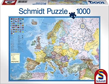 Schmidt map of europe jigsaw 1000 pieces amazon toys games schmidt map of europe jigsaw 1000 pieces gumiabroncs