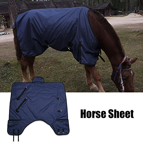 (Estink Horse Blanket,600D Waterproof Lightweight 70 inch Horse Turnout Blanket Sheet Rug Cover for Horse Blue (135cm-M))