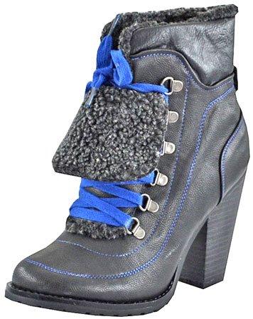 Qupid Pamper-14 Black Women Ankle Boots 8 M US