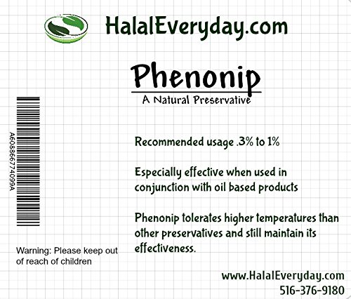 Phenonip - Preservative Used for Lotion, Cream, Lip Balm or Body Butter 8 Oz - Enough preservative to support approximately 48 lbs. of prod ()