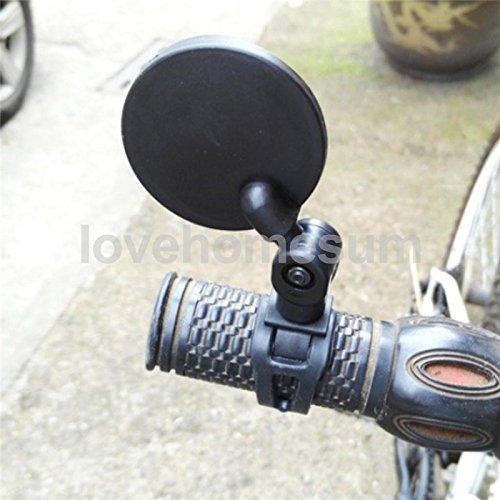 nero Clispeed 2pcs specchietto retrovisore universale manubrio della bicicletta specchietto retrovisore 360 rotazione della bicicletta per mountain bici da strada ciclismo bike