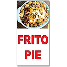 Frito Pie Red Food Bar Restaurant Food Truck DECAL STICKER Retail Store Sign - 9.5 x 24 inches
