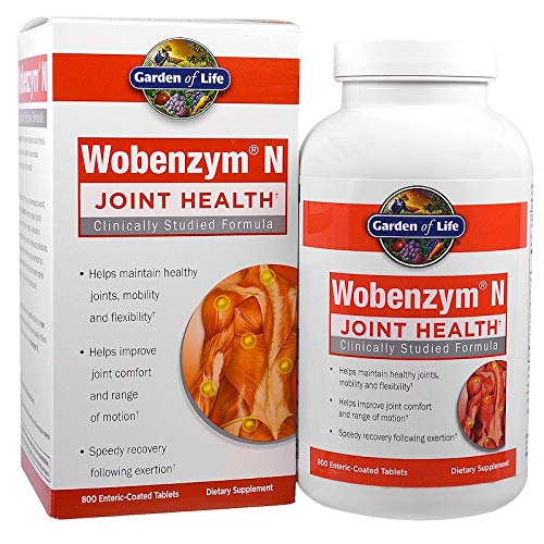 Wobenzym N Enteric Coated Tabs, 800-count Bottle (100-Count)
