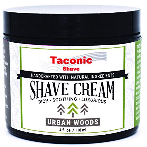 Taconic Shave Urban Woods Shaving Cream - Artisan Made in The USA - 4 oz.