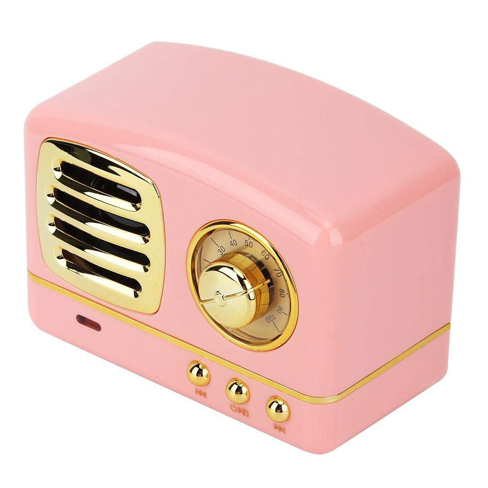 Denash Radio port/átil Mini Radio Retro Altavoz Reproductor de m/úsica Radio Recargable Soporte BT//USB//Tarjeta TF//AUX
