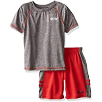 STX Little and Big Boys' 2 Piece Performance Athletic T-Shirt and Short Set