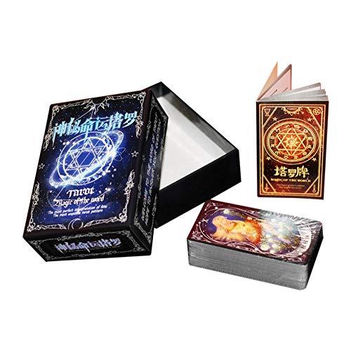 Tarot Cartes de jeu Famille Amis Lire Mythique destin Divination jeux de table mixte multi-couleur destin mystérieux drôle de conception de cartes Tarot Portable Jeu Famille Amis Divertissement Lire M