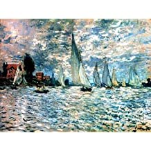 16X20 inch Claude Monet ImPressionist Canvas Print RePro sailboats