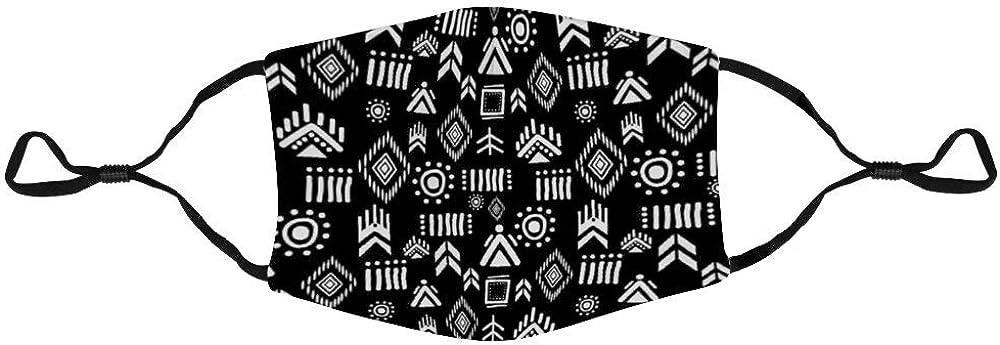 Promini Máscara de polvo Maya Dibujo bohemio antiguo Cultura navajo Hipster Moda Moda Poliéster ajustable Orejera Mufla Máscara bucal Unisex Antipolvo Contaminación Ciclismo
