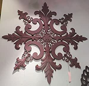"Amazon.com: Extra Large 50"" Indoor Outdoor Ornate Wall ... on Backyard Decorations Amazon id=60269"